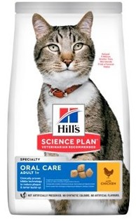 Hills Feline Dry Adult Oral Care Chicken NEW