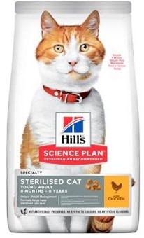 Hills Feline Dry Adult Young Sterilised Cat Chicken NEW