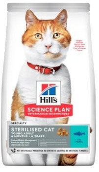 Hills Feline Dry Adult Young Sterilised Cat Tuna NEW