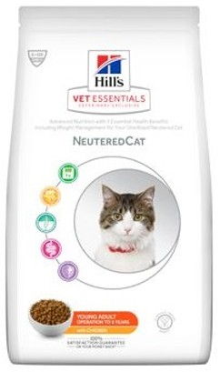 Hills Feline Dry VetEssentials Young Adult Neutered Chicken