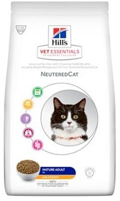 Hills Feline Dry VetEssentials Mature Adult Neutered Chicken