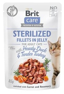 Brit Care Cat Fillets in Jelly Sterilized