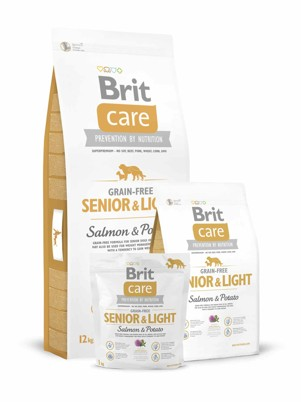 Brit Care Dog Grain-free Senior/Light Salmon/Potato