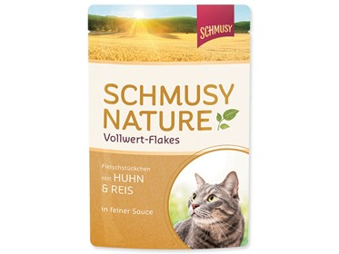 Schmusy Cat Nature Flakes kapsa