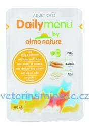 Image of Almo Cat Daily Menu kapsa kuře+losos 70g